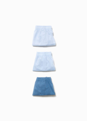 Three-pack cotton boxer shorts with buttons