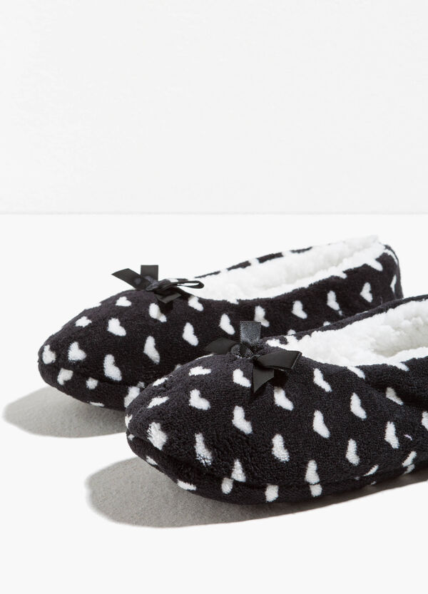 Slippers with fur and bow | OVS