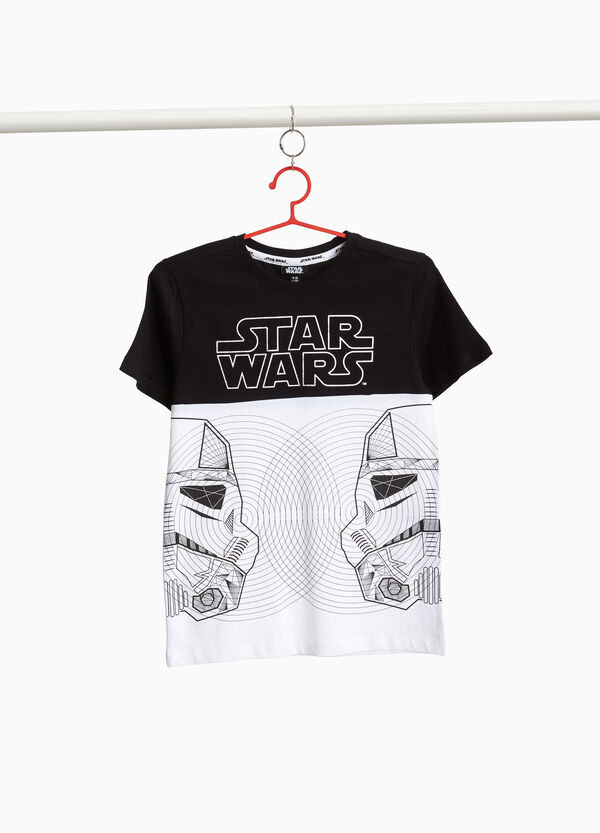 Star Wars print two-tone T-shirt