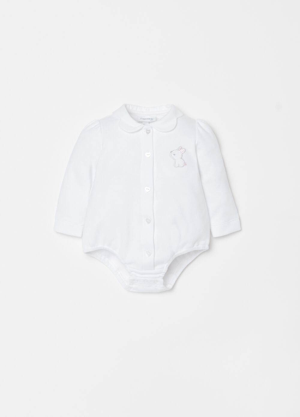 100% cotton bodysuit with rabbit embroidery