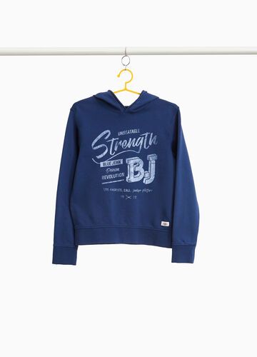 100% cotton sweatshirt with lettering print