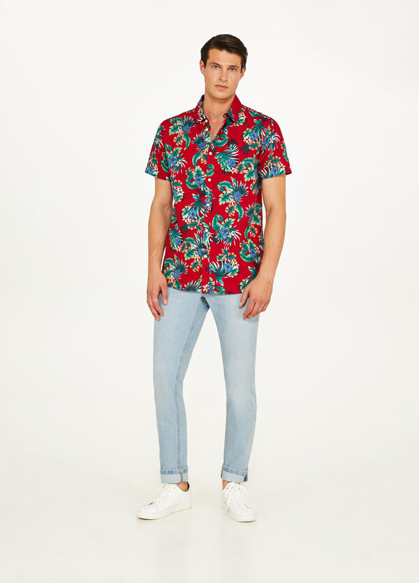 Floral shirt in 100% cotton