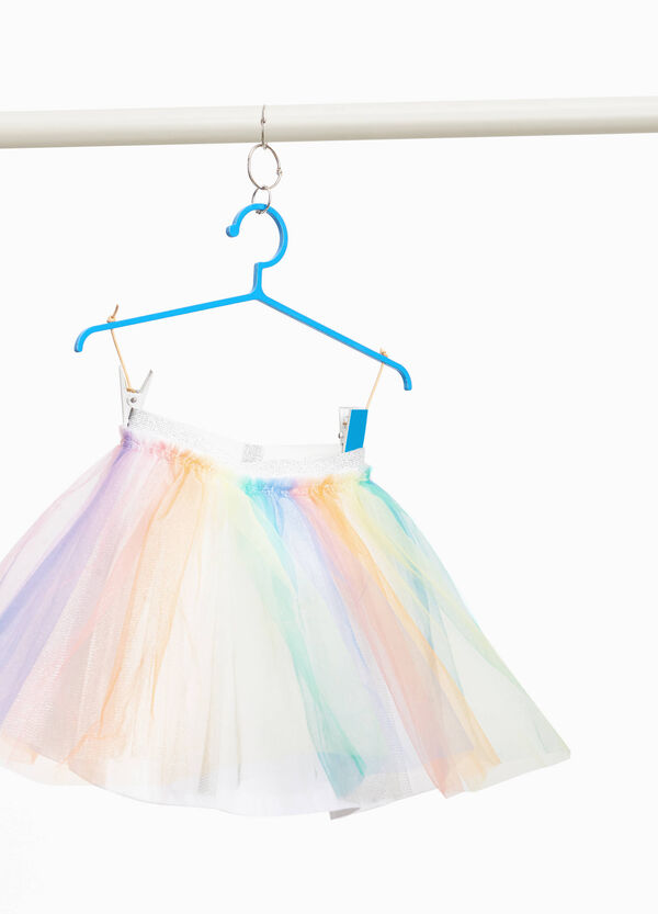 Gonna in tulle fantasia arcobaleno