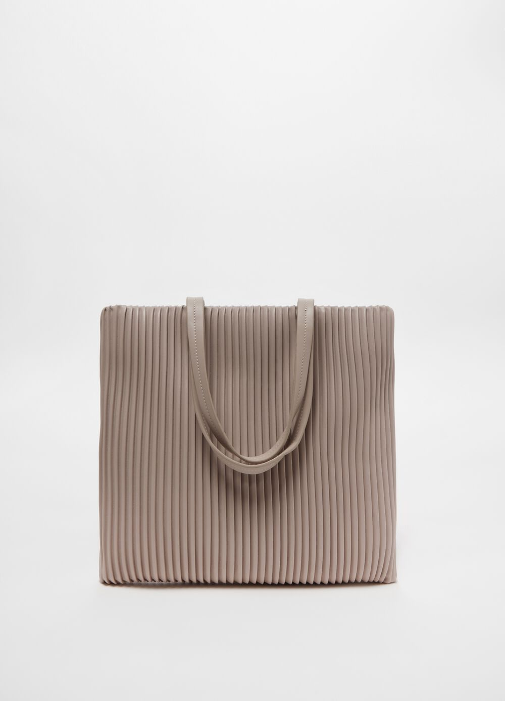 Flat shopping bag with striped weave