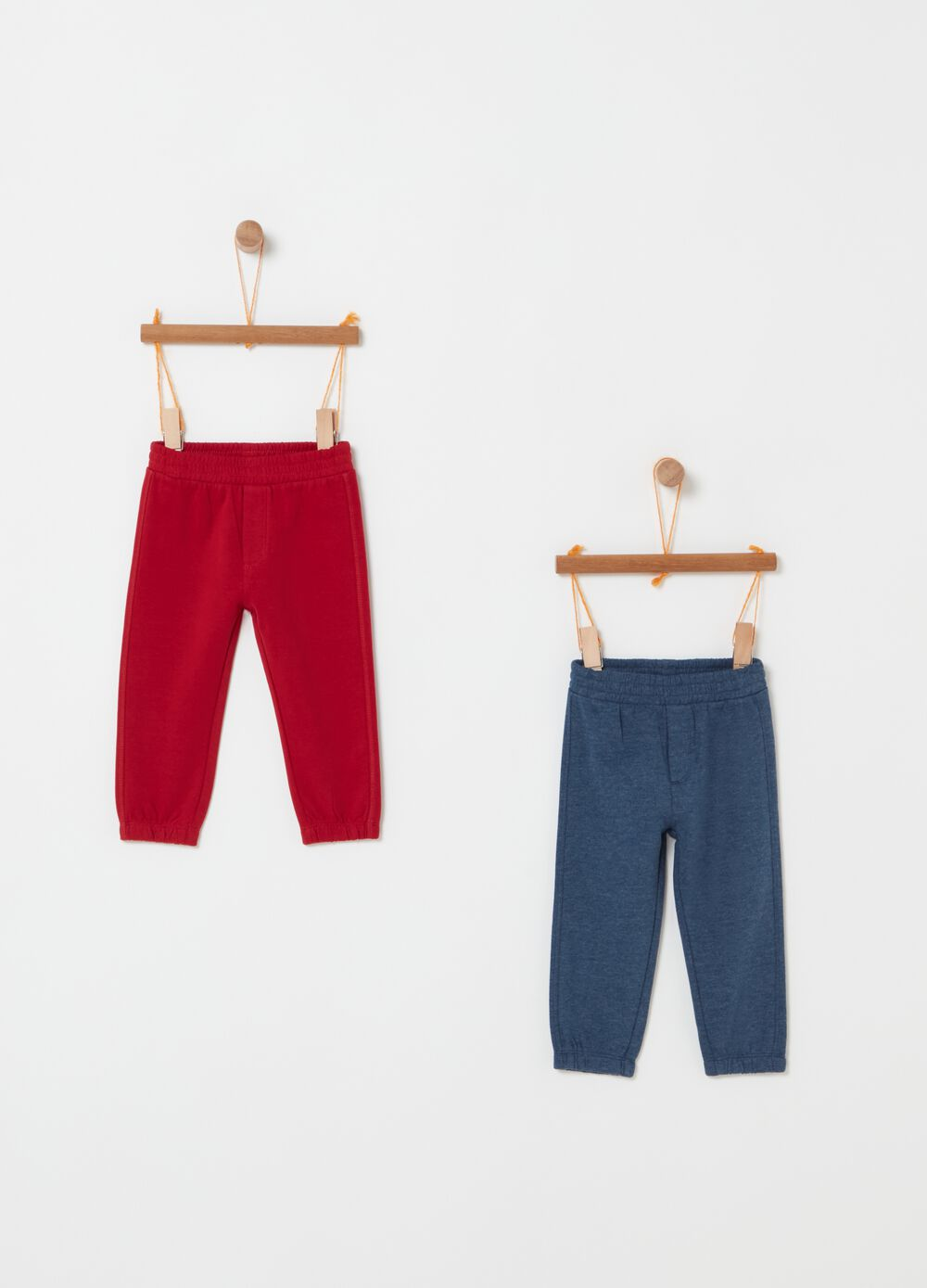 Two-pack trousers with elasticated waistband