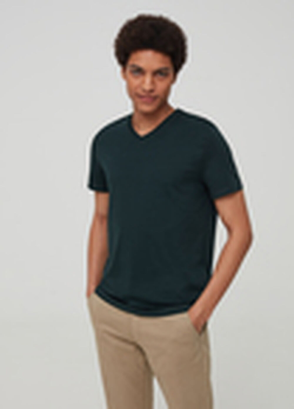 100% Supima cotton T-shirt with V neck
