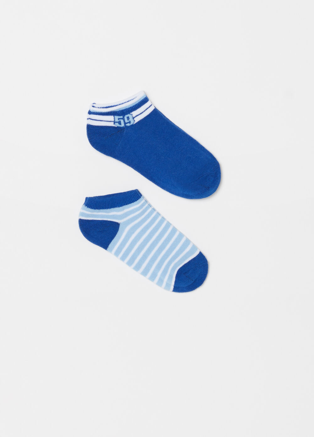 Two-pair pack extra short socks in brushed cotton