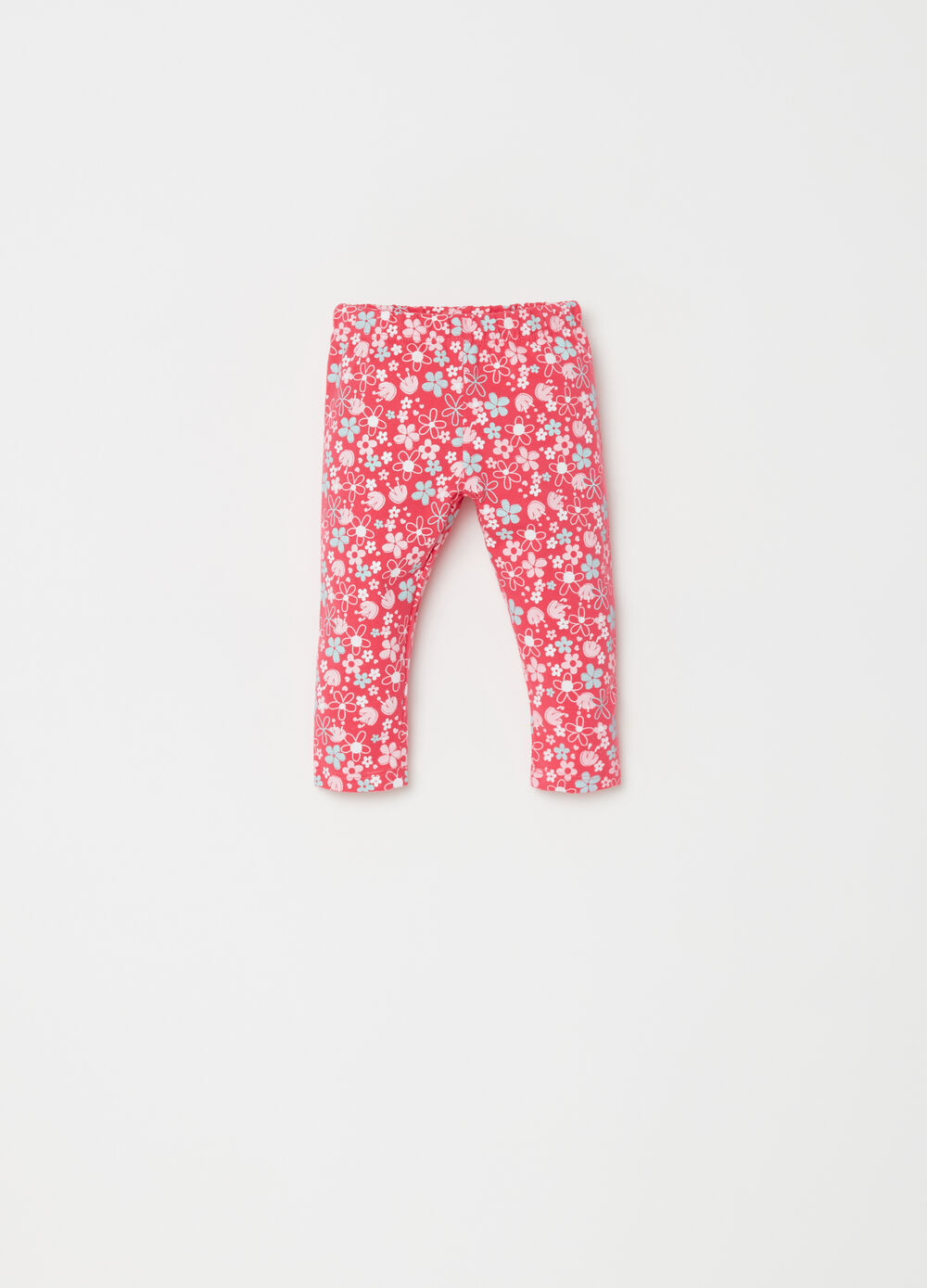 Leggings in BCI cotton with floral pattern