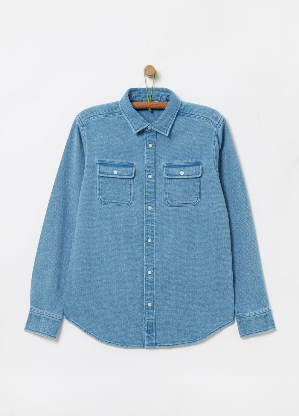 Denim shirt with pockets