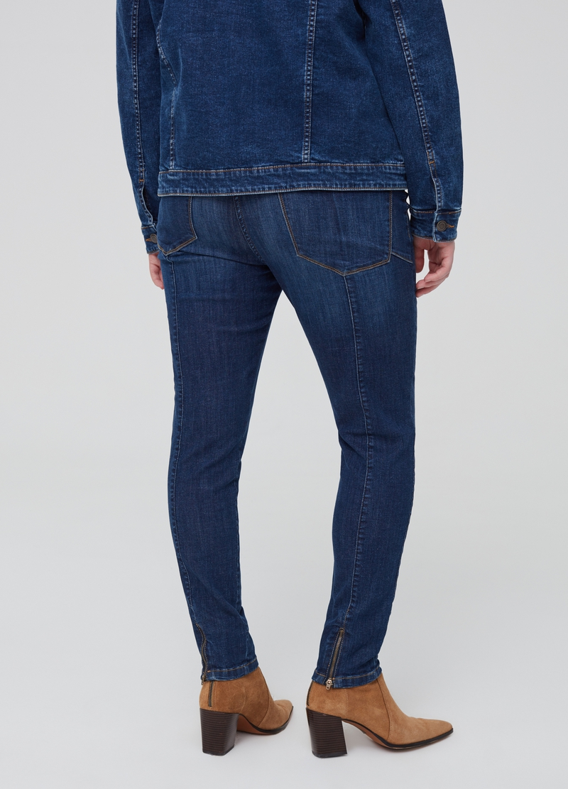 Curvy stretch jeans with zip image number null