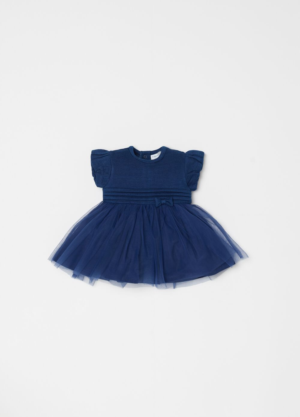 Tulle dress with full-circle skirt