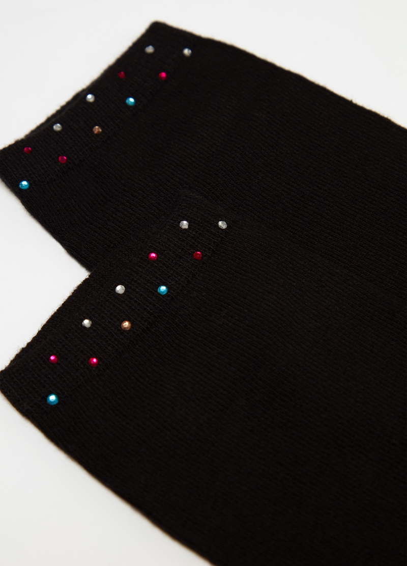 Short socks with coloured diamantés image number null
