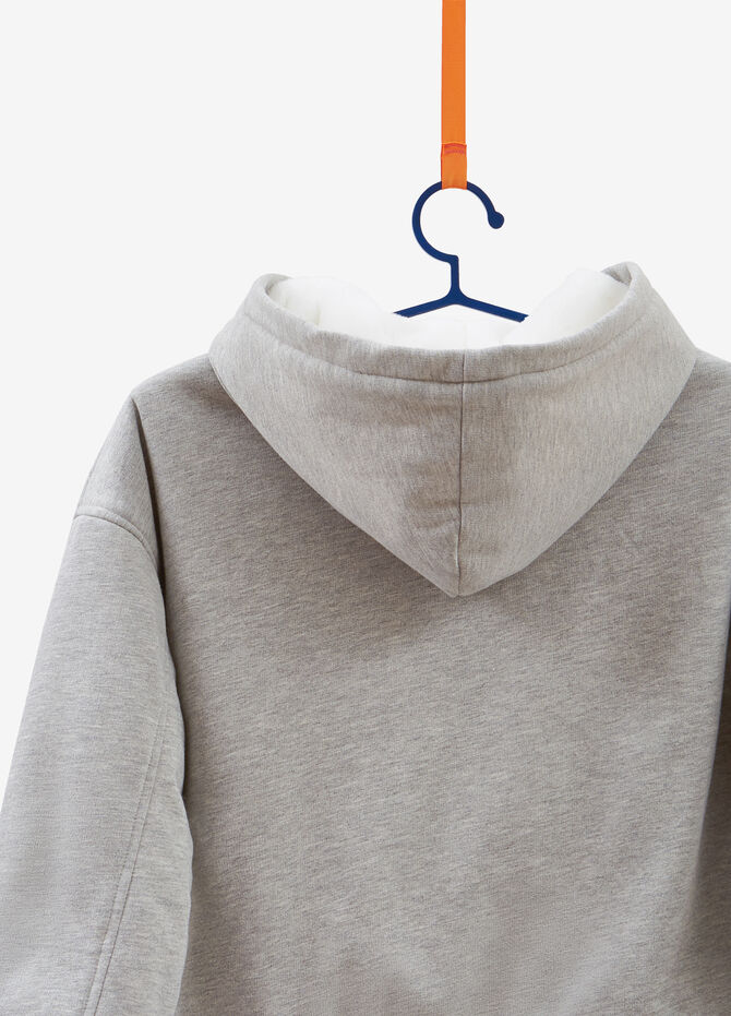 Cotton blend hoodie with zip