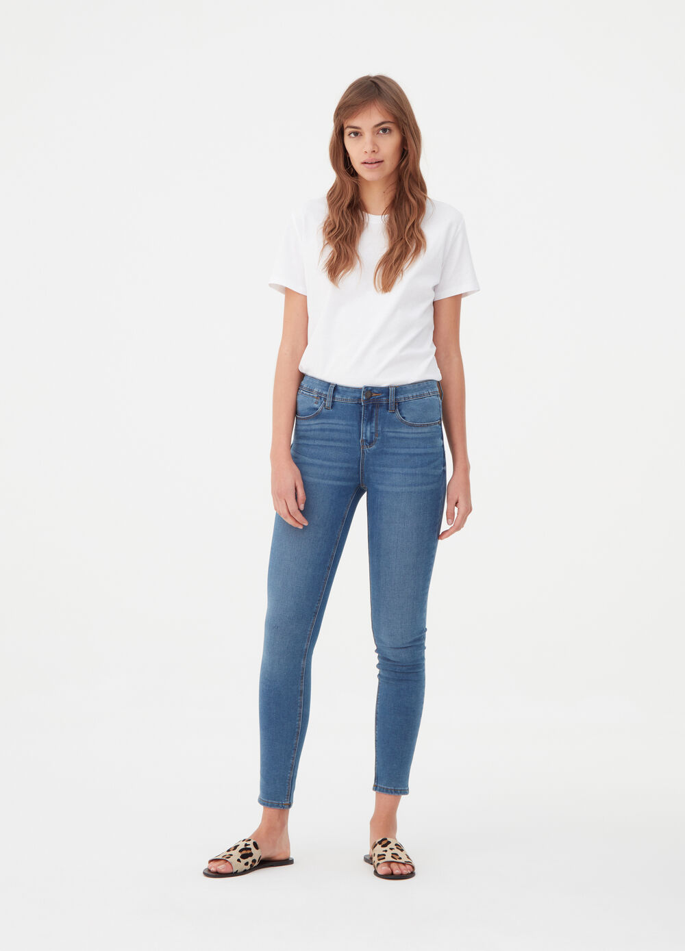 High recovering push-up stretch jeans