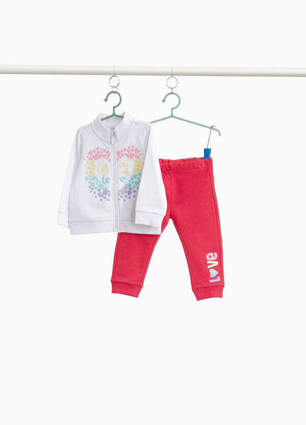 100% cotton printed tracksuit