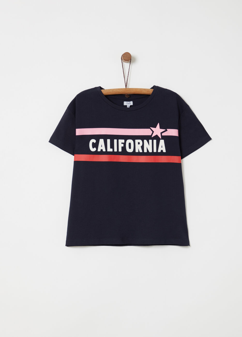 Jersey T-shirt with thick print