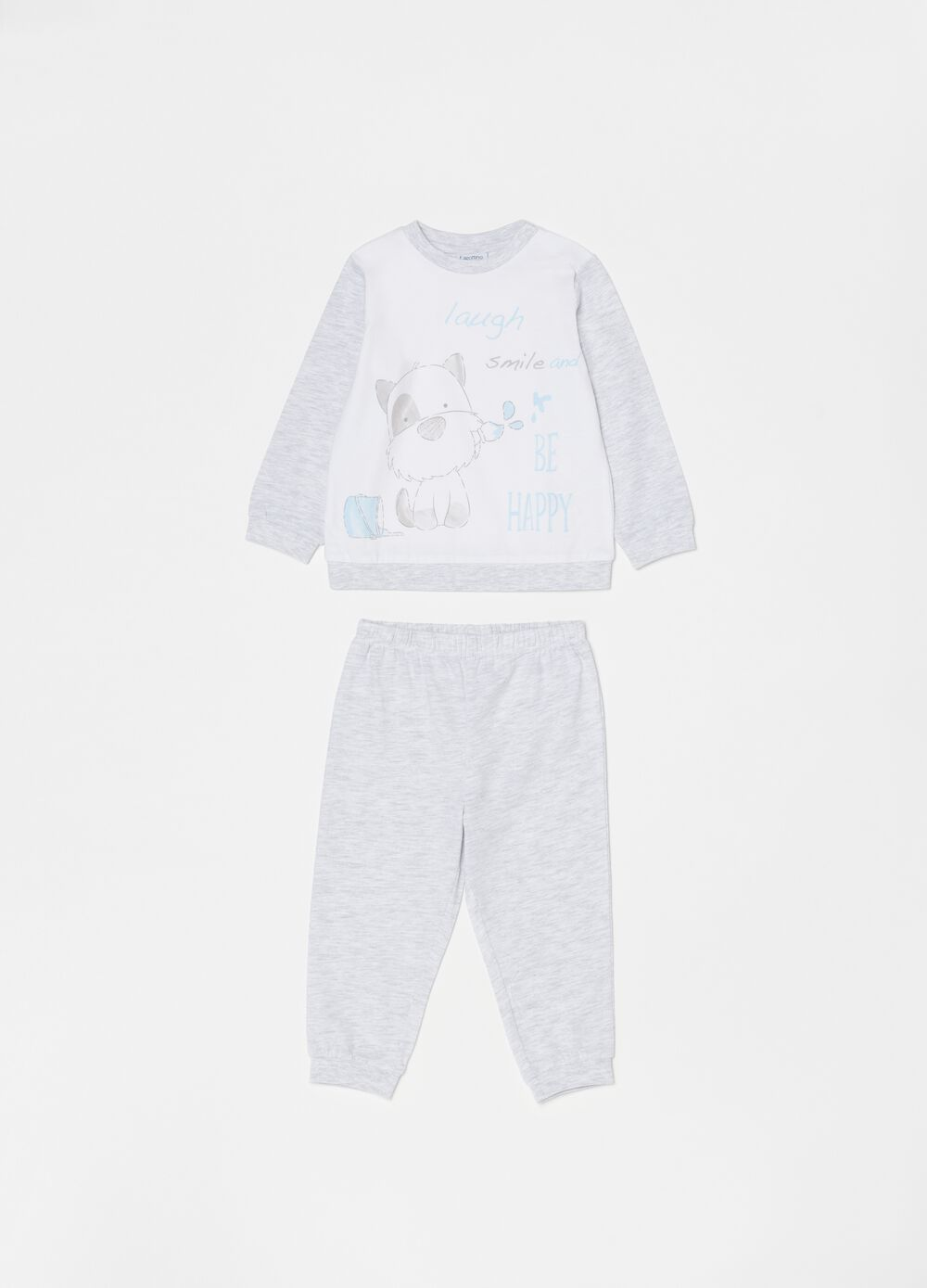 Long pyjamas in organic cotton with puppy