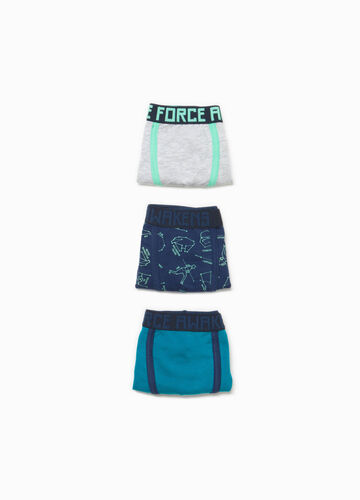 Three-pack stretch cotton boxer shorts with lettering