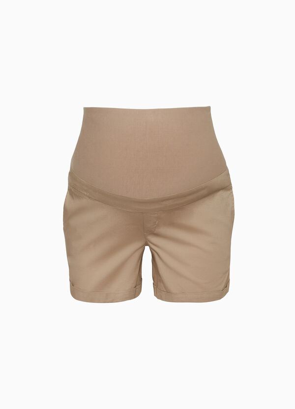 MUM stretch cotton shorts
