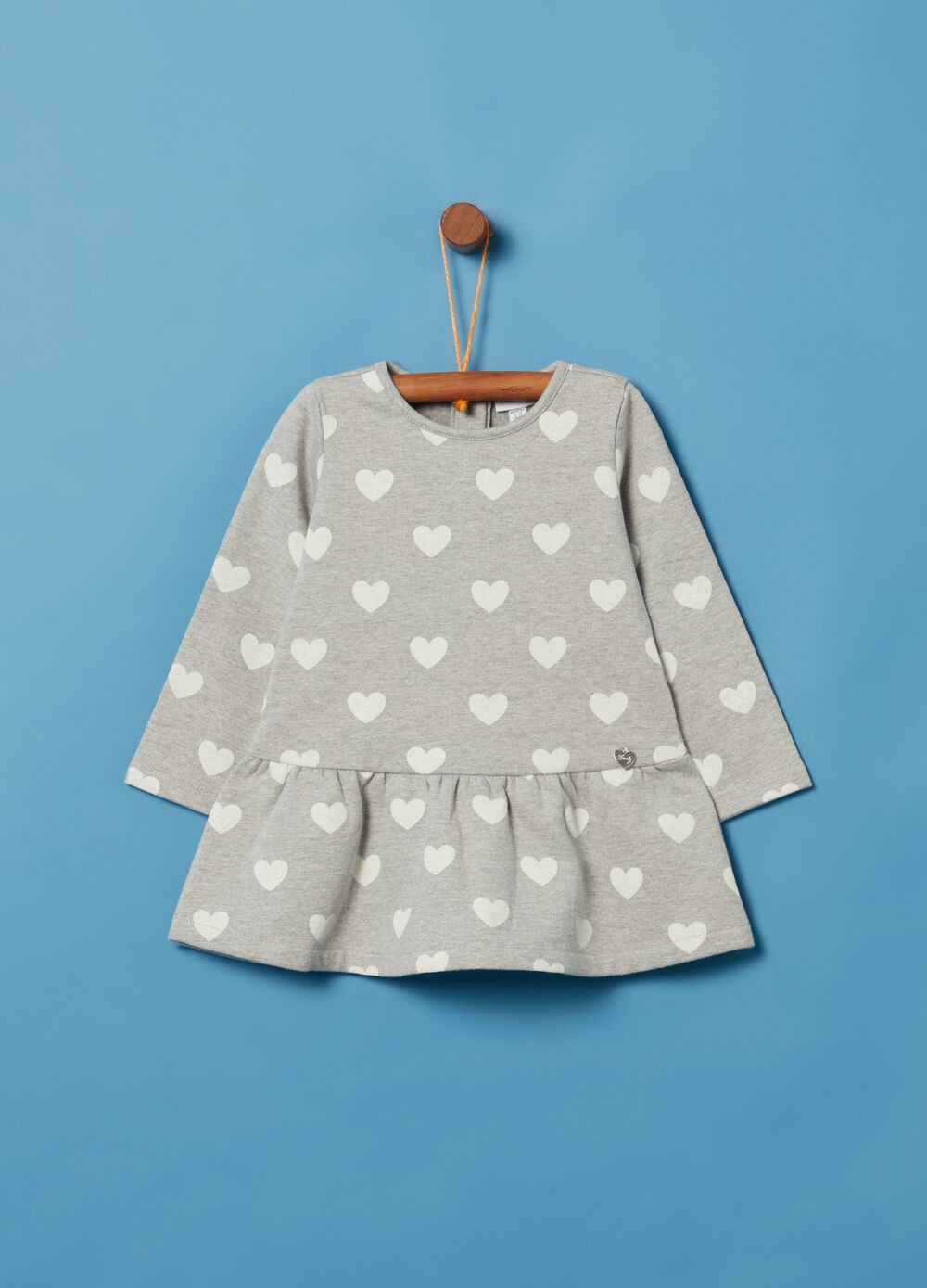 Heart patterned fleece dress