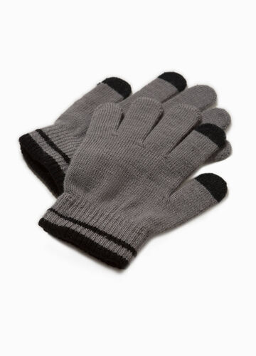 Solid colour gloves for touch screen