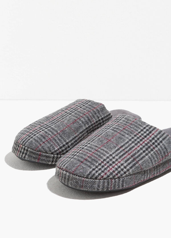 Tartan canvas slippers | OVS