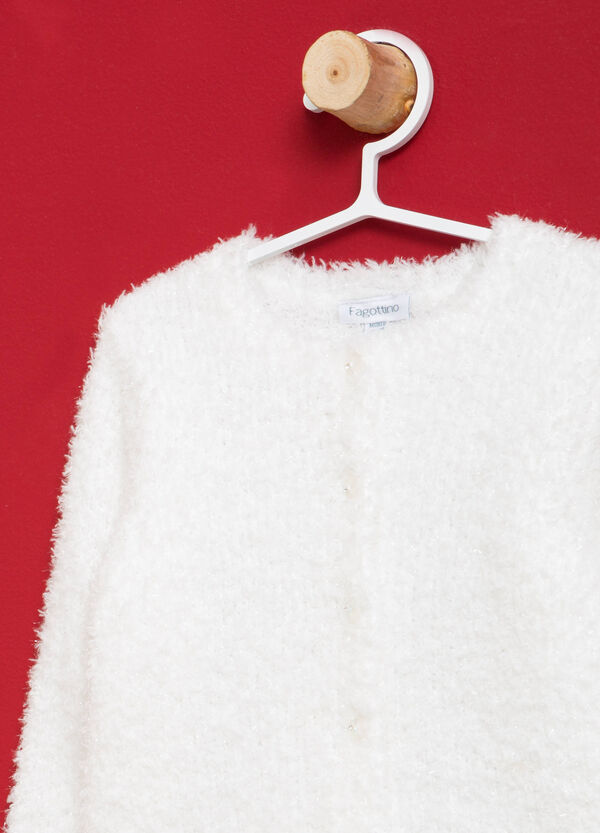 Solid colour viscose knitted cardigan | OVS