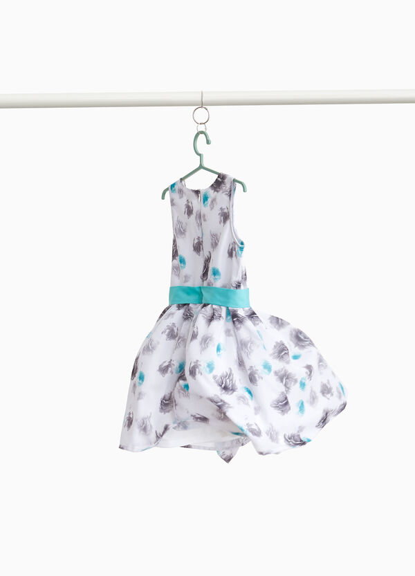 Sleeveless floral dress with ruffles