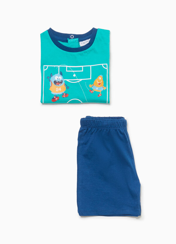 Cotton pyjamas with football monsters