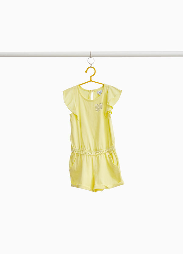 Cotton pinafore with cap sleeves