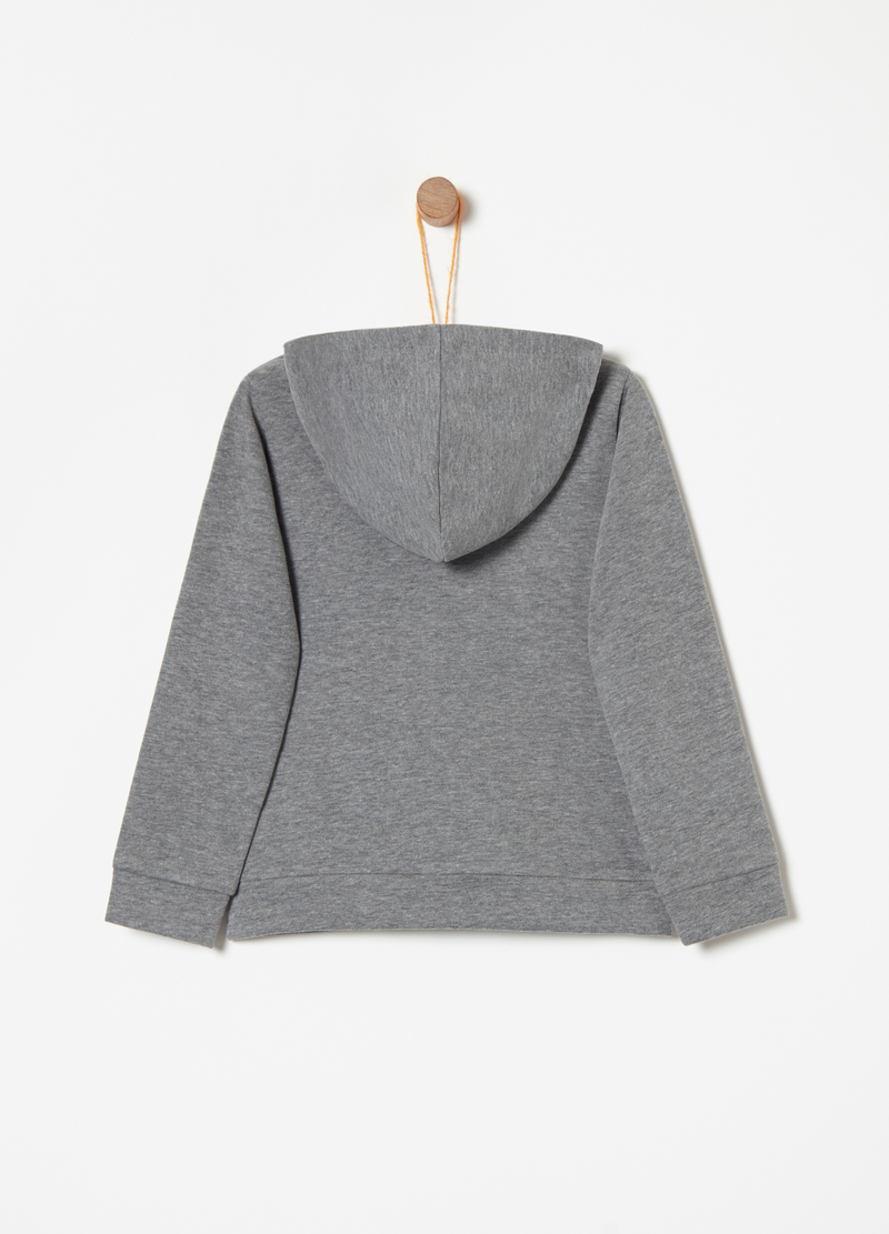 Glitter patterned sweatshirt with zip and hood image number null