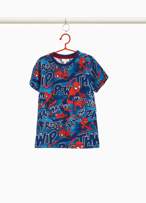 Spiderman patterned T-shirt in 100% cotton