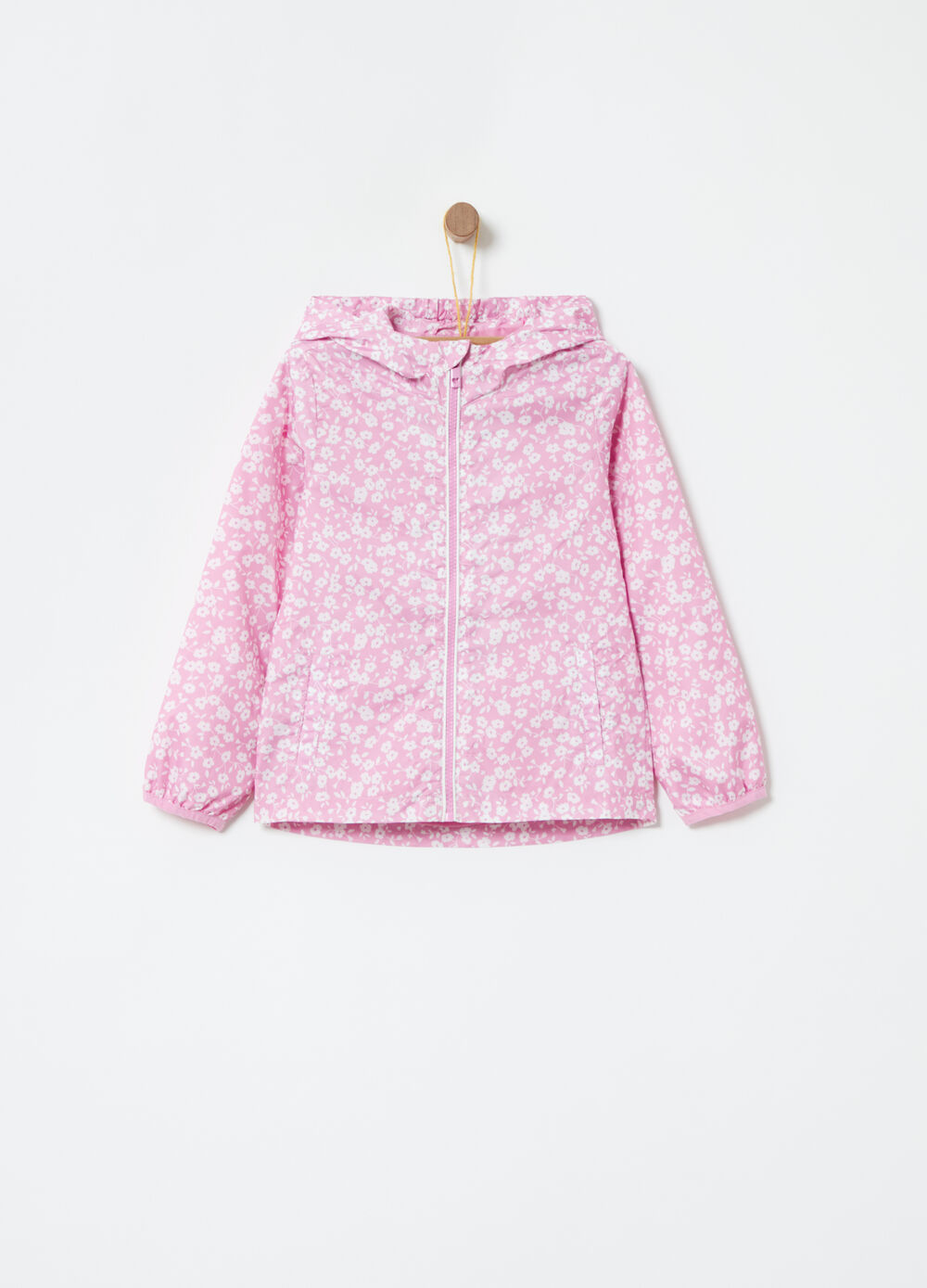 Jacket with all-over floral print