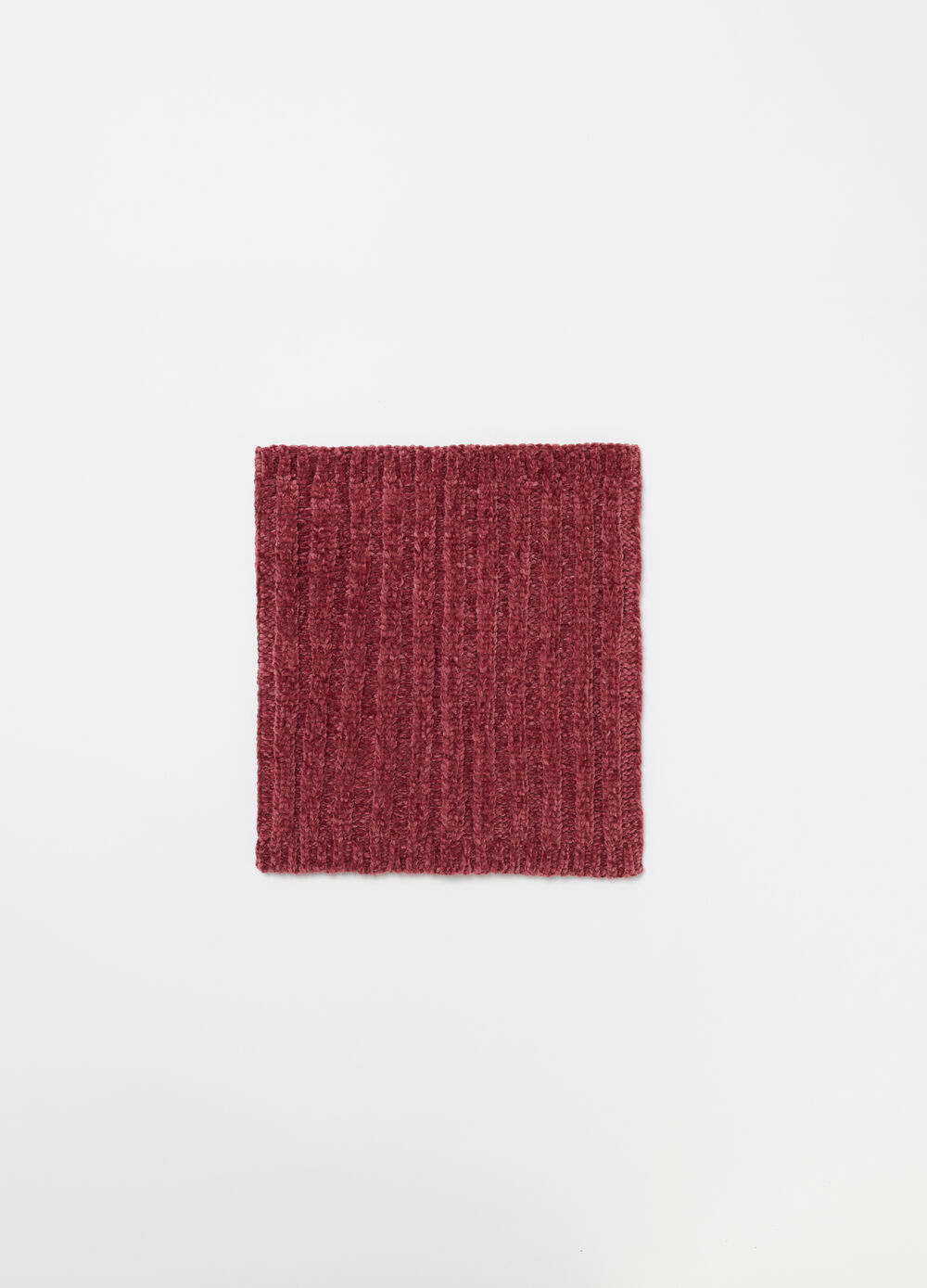 Soft chenille neck warmer