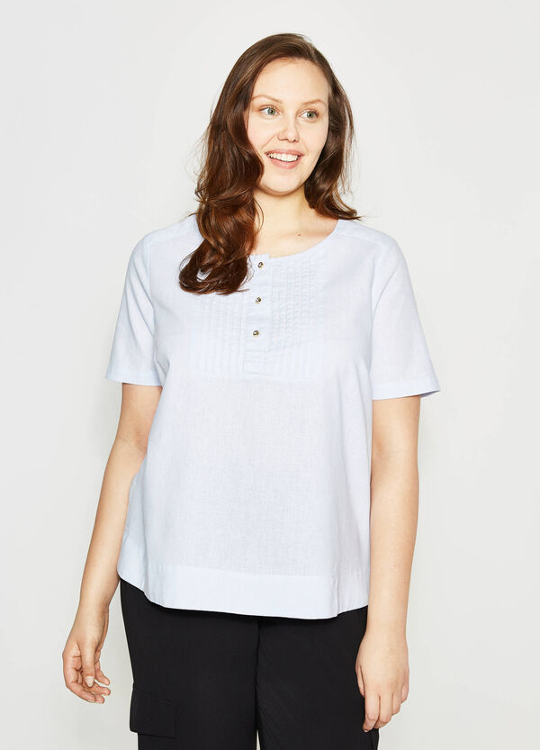Curvy blouse with pleating   OVS