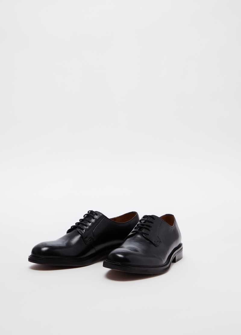PIOMBO genuine leather derby-style lace-up shoes image number null
