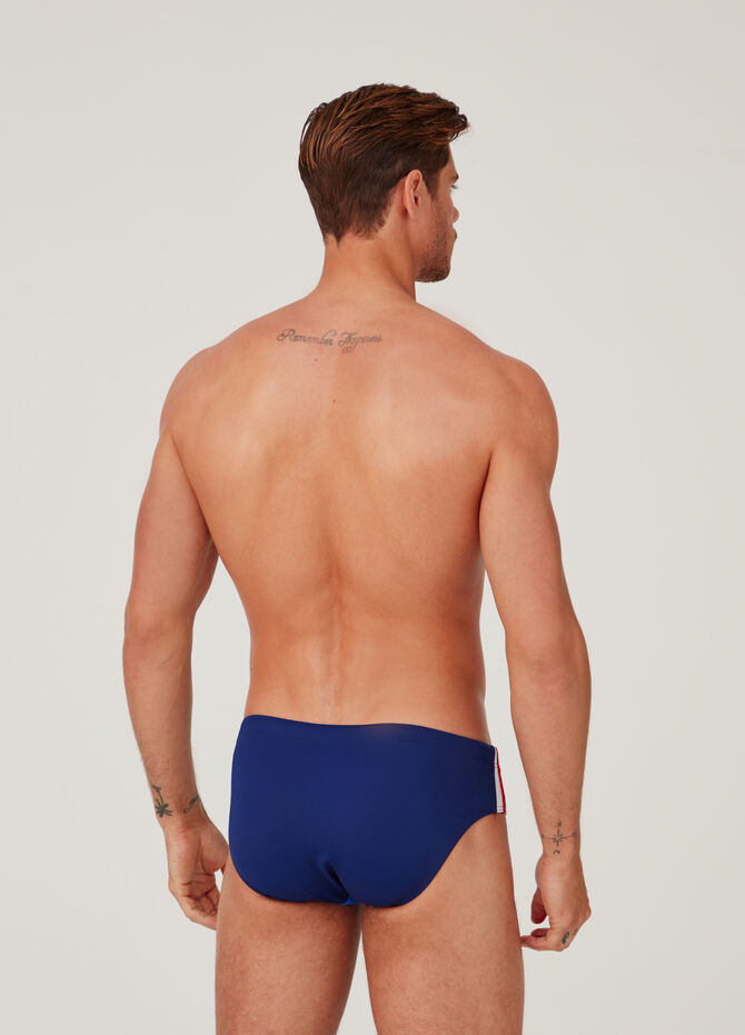 Swim briefs with drawstring and Ocean Care print