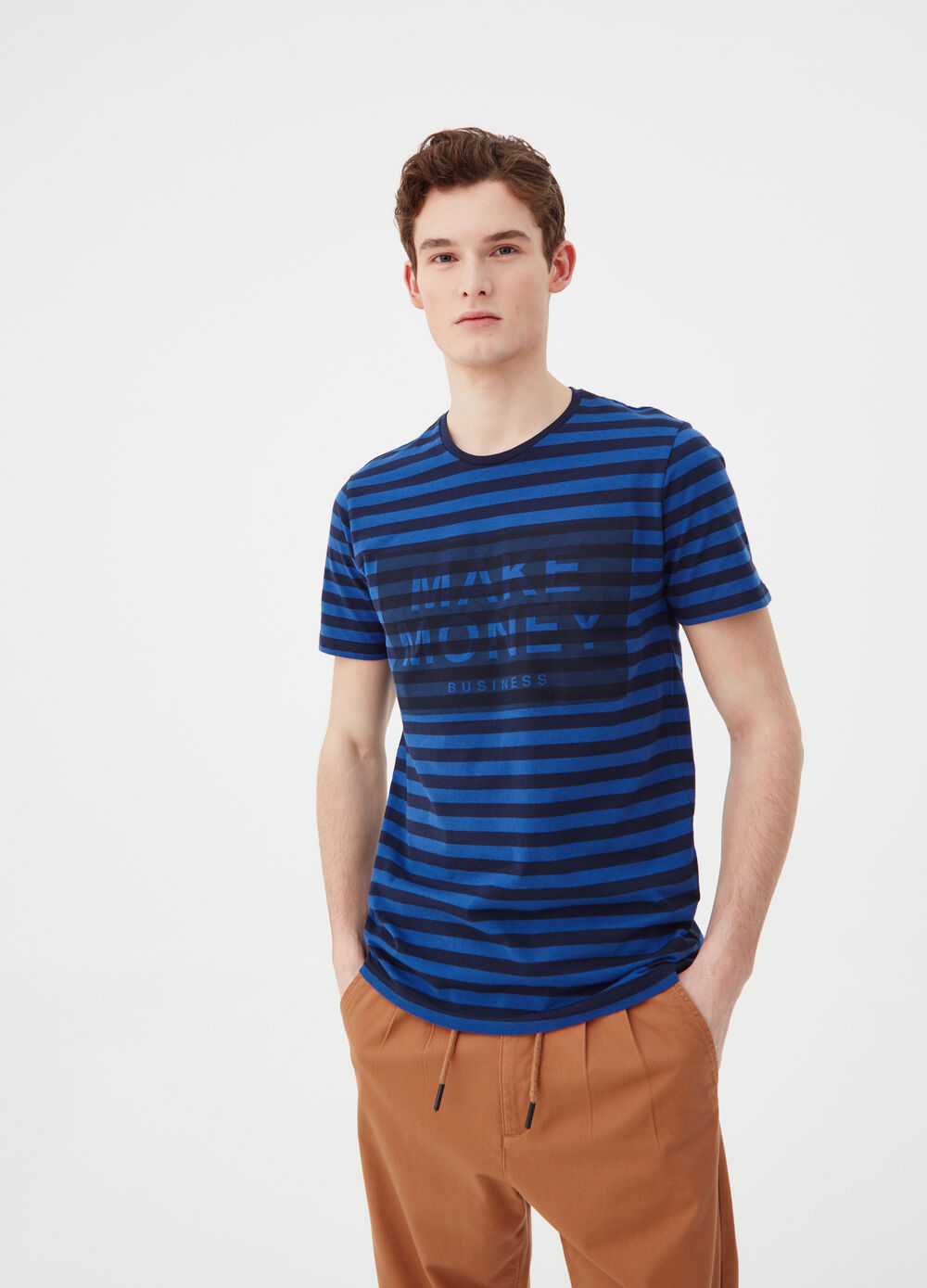 Striped pattern T-shirt in 100% cotton