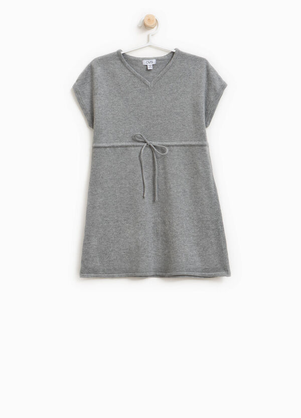 Wool and cotton blend dress with drawstring   OVS