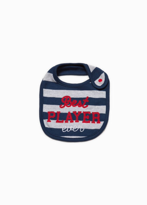 Striped bib with embroidery | OVS