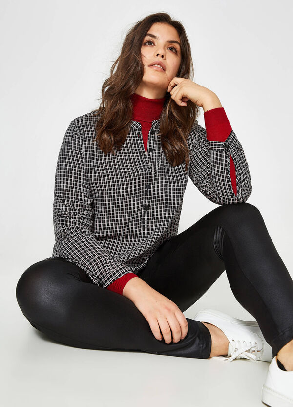 Curvy check viscose shirt | OVS