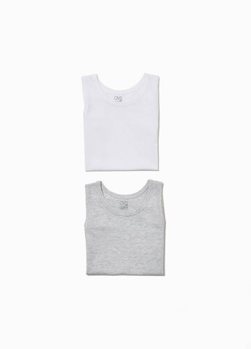 Two-pack under vests with round neck