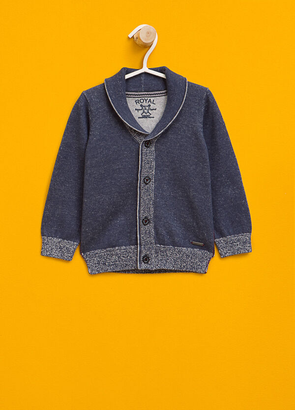 100% cotton cardigan with lapels | OVS