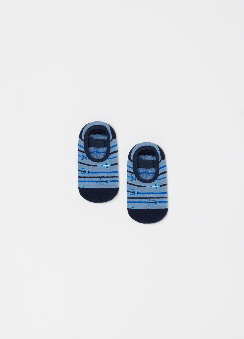 Slipper socks in stretch organic cotton