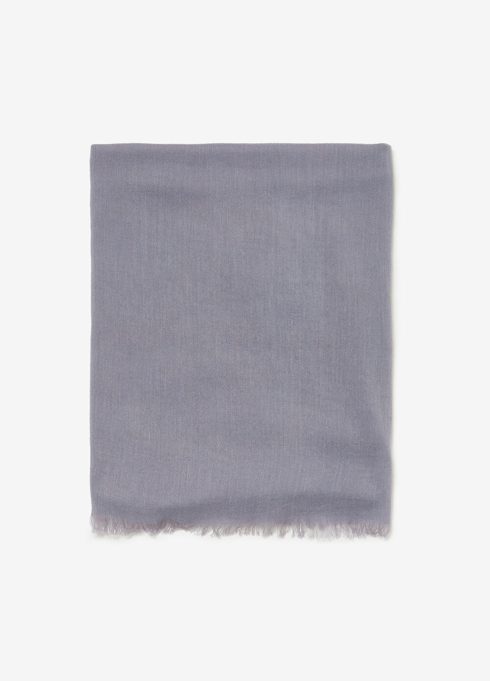 Solid colour cotton and viscose pashmina
