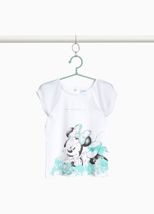 100% cotton T-shirt with Minnie Mouse print