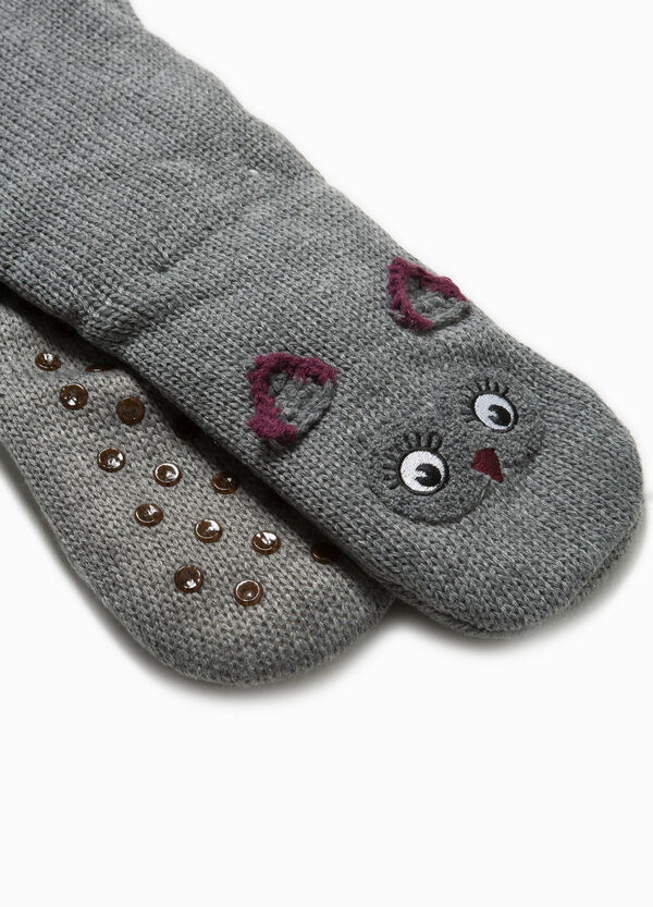 Slipper socks with ears