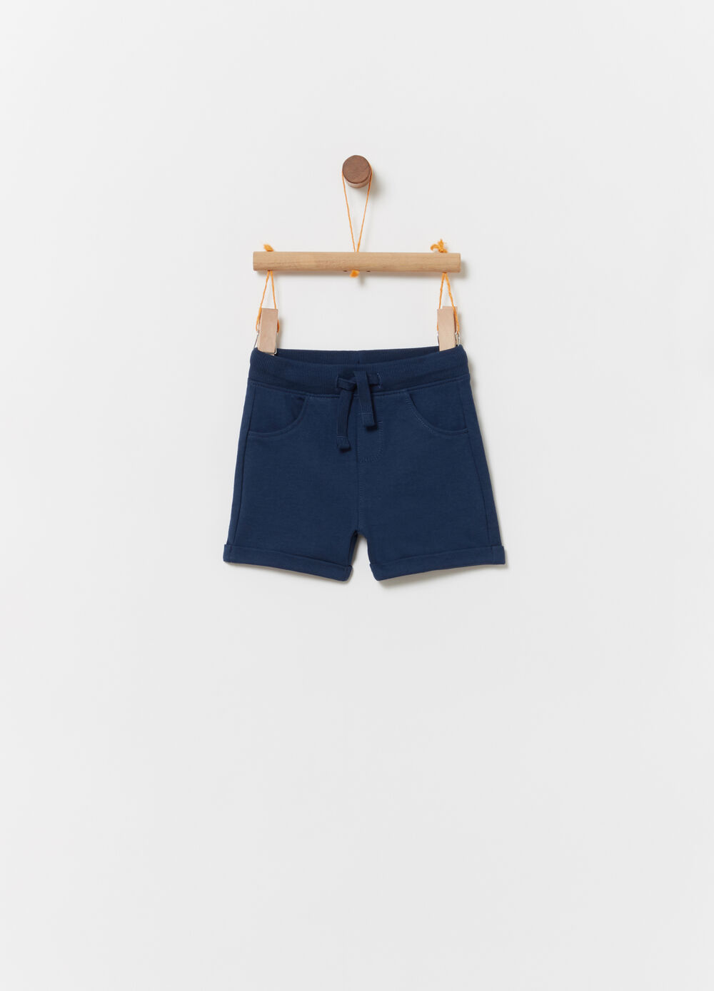 Shorts in French Terry con coulisse