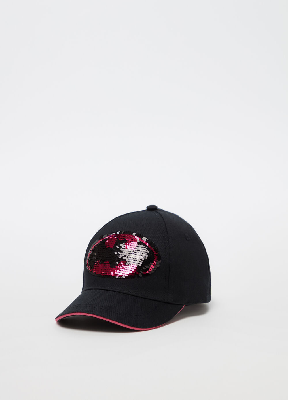Batman baseball cap with sequins