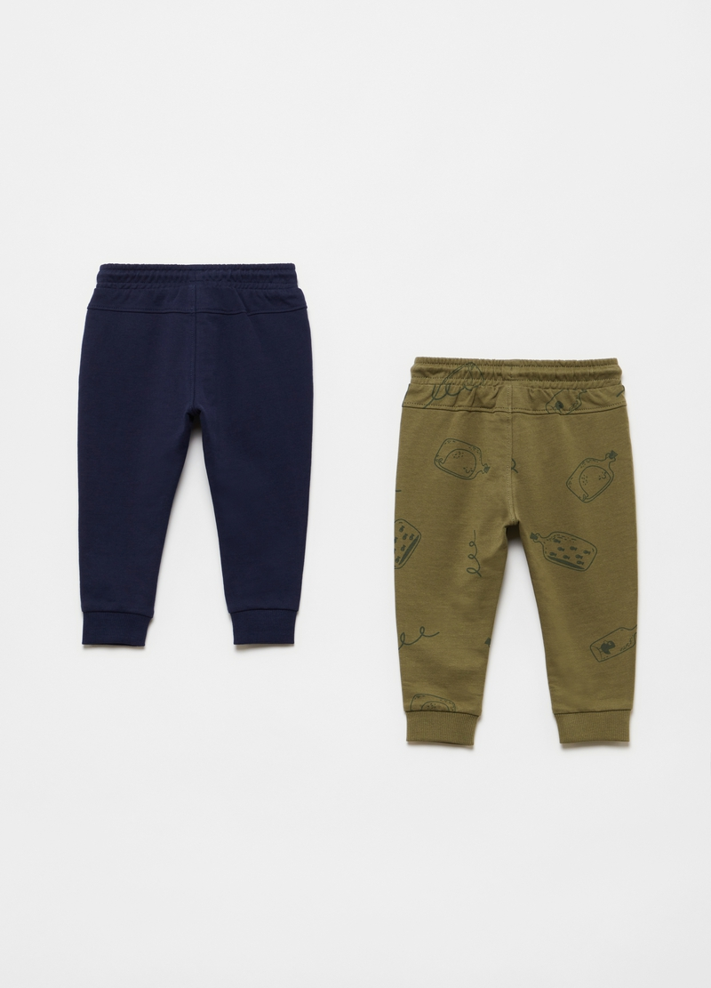 Two-pack 100% cotton joggers image number null